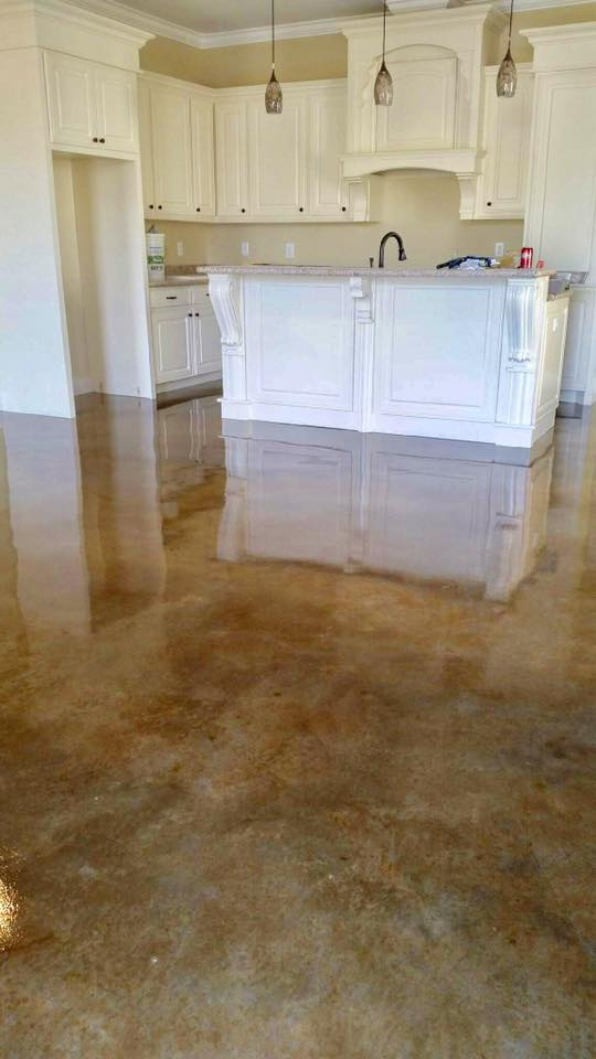 Kitchen Concrete Stain New construction - Crowley LA