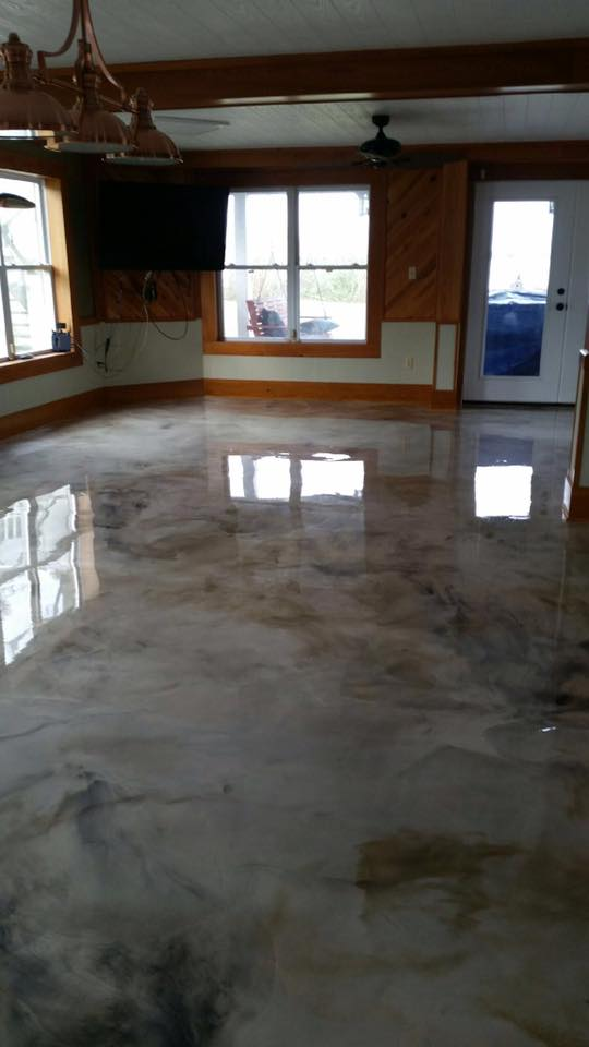 Lake Arthur Louisiana Metallic Epoxy Flooring Contractor